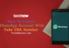 How To Create WhatsApp Account With Fake USA Number
