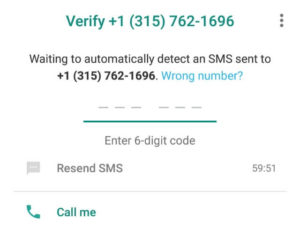Verify TextNow Number on WhatsApp