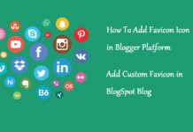 set fevicon on blogger