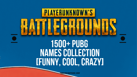 1500+ Best Cool, Funny PUBG Names 2019 [Profile, Clan & Crew]