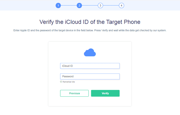 Connect Apple ID with Minspy