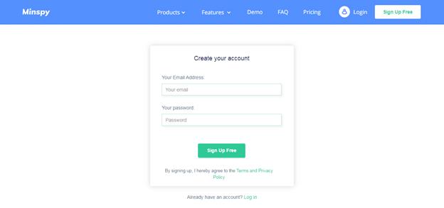 Create Minspy Account