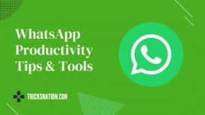 WhatsApp Productivity Tips & Tools