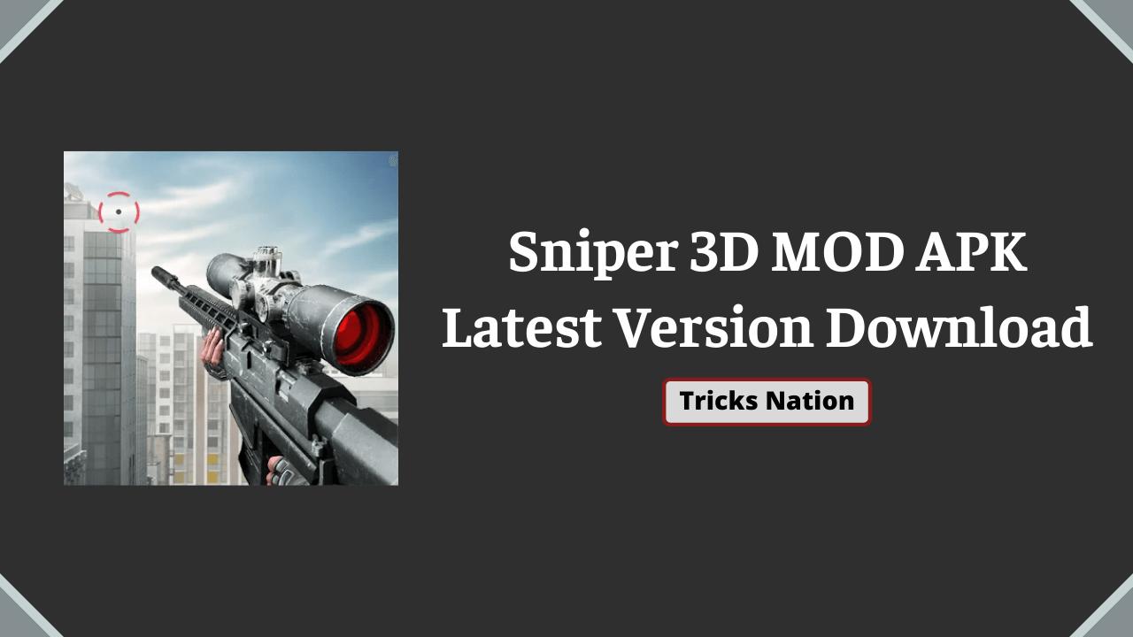 Sniper 3D MOD APK (Unlimited Money & Diamonds, All Guns Unlocked)